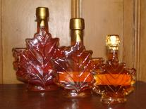 Cliff Haven Farm maple syrup glass maple leaf bottle