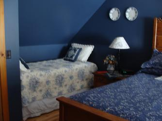 Extra twin size bed in the Blue room