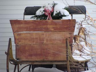The old sleigh, Cliff haven Farm B&B Newport Vermont